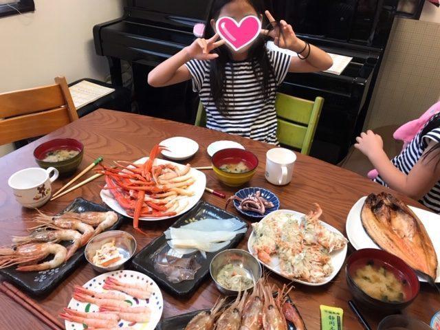 TVで放映されていた、羽田食堂で大量の魚介類をゲット!!